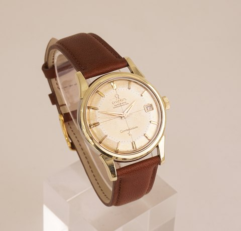 Omega Constellation Pie Pan, forgyldt, ref. 14393 